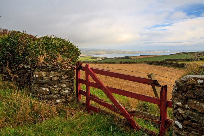 Isle Of Man Cregneash Grass Sky Tranquil Scene Field Scenics Beauty In Nature Outdoors Sea Horizon Over Water Landscape Gate Nature Farm