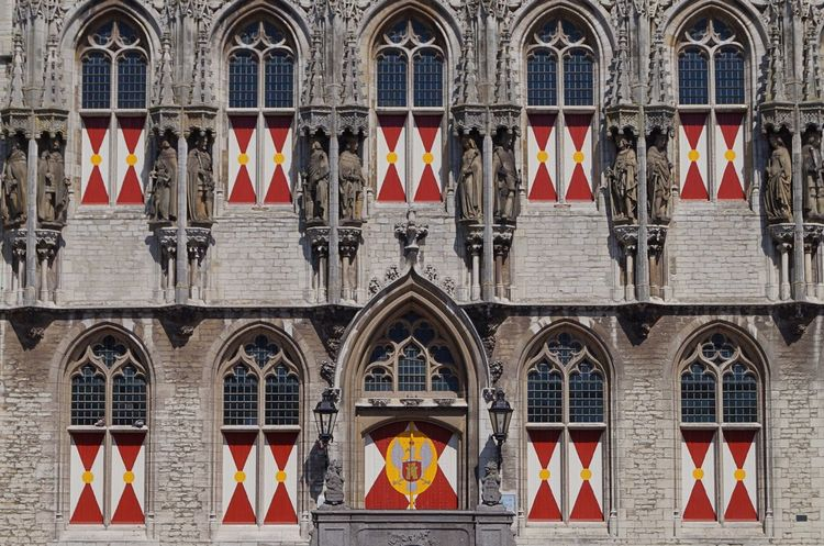 Arch Architecture Building Exterior Built Structure Coat Of Arms Court National Icon Netherlands No People Pride Red Town Hall Window