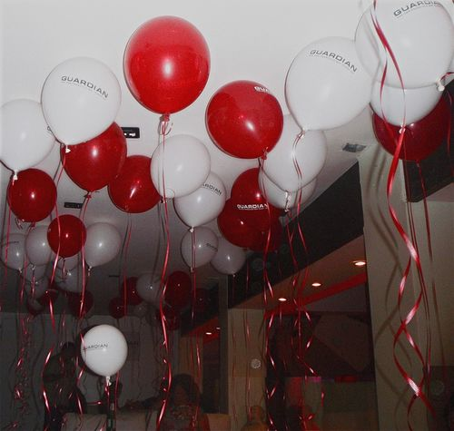 Arrangement Celebration Celebrations Close-up Decoration Floating Floating On Water Red Balloon White Balloons Party Illuminated Large Group Of Objects No People Party Time Red Red Relaxing Still Life