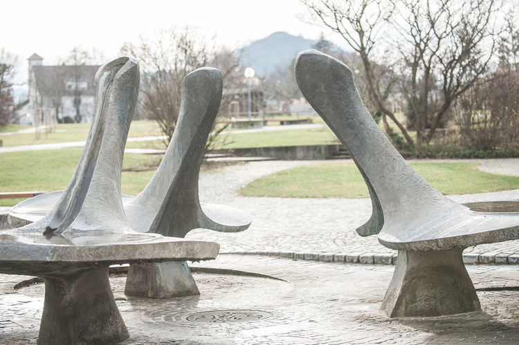 Achalm Close-up Day Fountain No People Outdoors Park Phallus Symbol Pomologie Sculpture Southern Germany Statue Wintertime