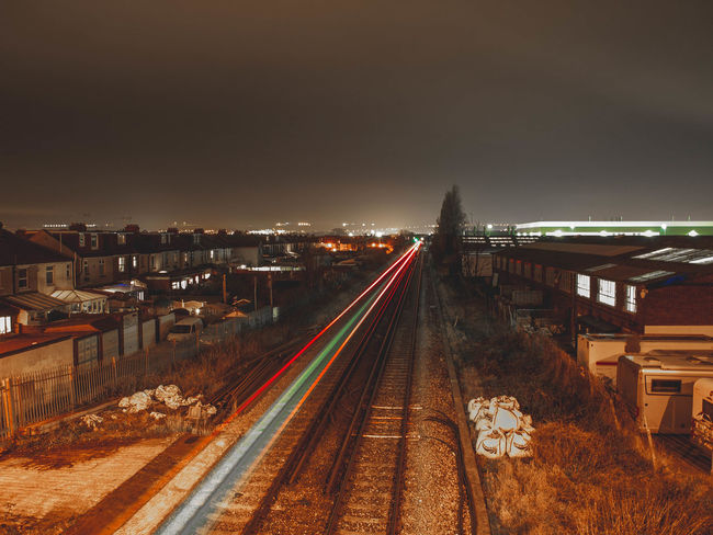 Night Illuminated Transportation City Traffic Long Exposure Light Trail City Life Bridge - Man Made Structure Highway Outdoors Business Finance And Industry Car Architecture Built Structure Rush Hour Travel Destinations Sky Cityscape Road