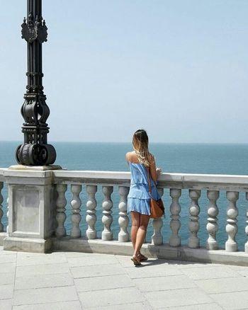 Cadiz Caleta Cádiz, Spain People Sea And Sky Outdoors Day Sky