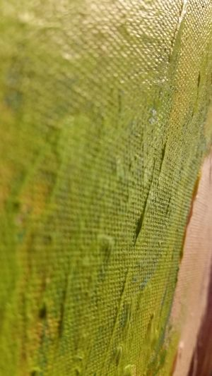 Maximum Closeness Full Frame Green Color Close-up No People Pattern Backgrounds Textures And Surfaces Textured  Oil Paint Paint On Canvas Change Evolving Abstract Abstract Abstract Photography