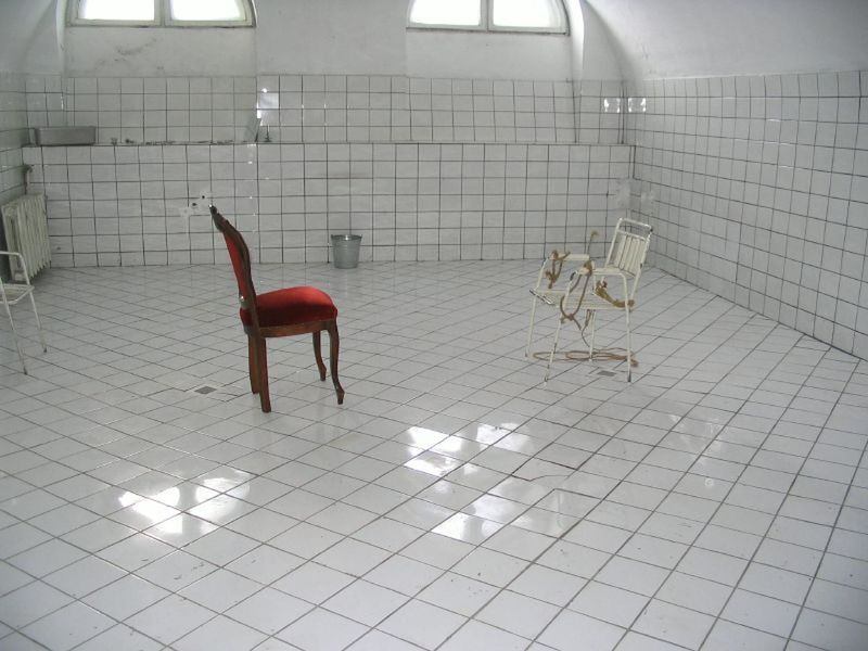 Illuminated Indoors  Modern No People Red Chairs Tile White Room
