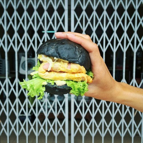 Black Burger Egg & Ham Delicious Enjoy EyeEm What I Value Best Shoot Healthy Malaysia 2015
