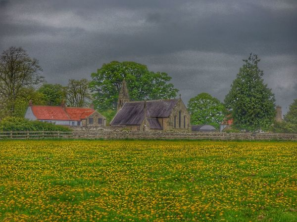 St Marys Church HDR Field Agriculture Outdoors Rural Scene No People Sky Scenics Popular Photos Photography Hdr Photography Architecture_collection Church Buildings Popular Architecture Built Structure Architecturelovers History Through The Lens
