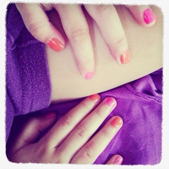 Driaz's hands & her nails Polished