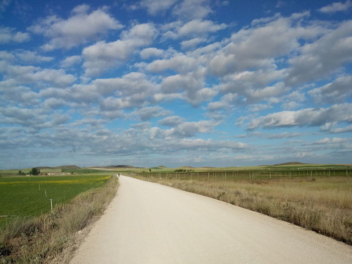 2014 Camino CaminodeSantiago Cloud - Sky El Camino De Santiago Himmel Jakobsweg Road Sky Straße Way Way Of Saint James Weg Sky And Clouds