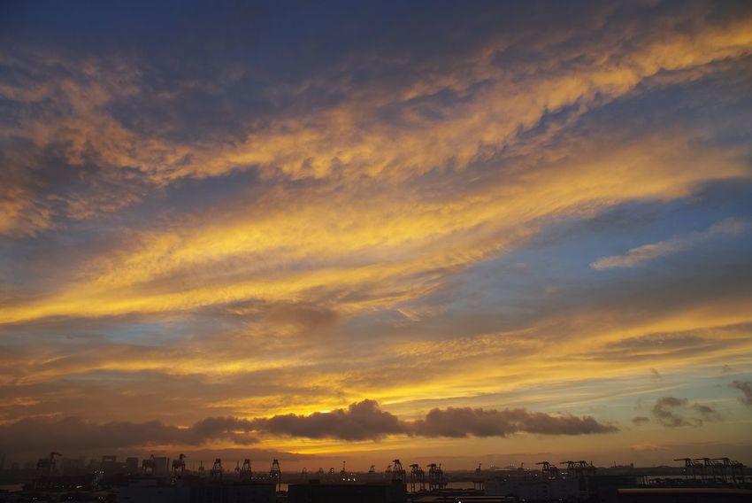 Sky Sunset Cloud - Sky Scenics - Nature Beauty In Nature Orange Color Nature
