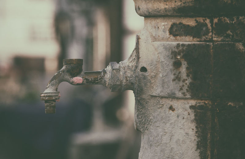 Close-Up Of Old Faucet