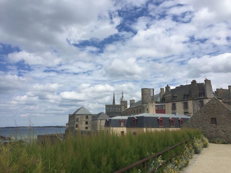 Architecture Building Exterior Cathedral Grass House Nature Outdoors Sky St. Malo Water