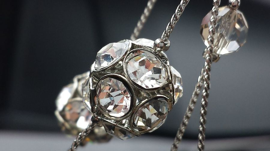 Close-Up Of Diamond Bracelet