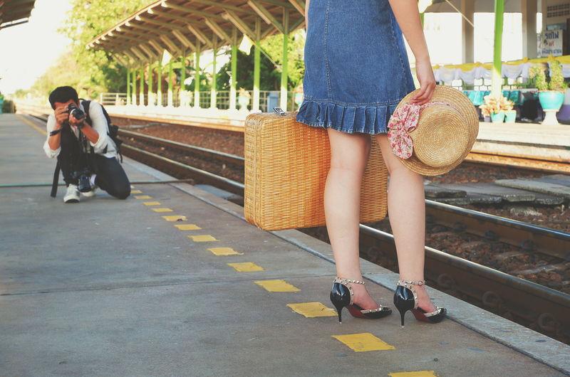 City Young Women Women Full Length City Life Men Fashion Low Section Walking