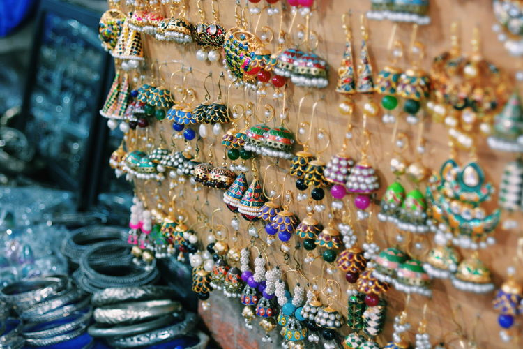 Close-Up Of Earrings For Sale