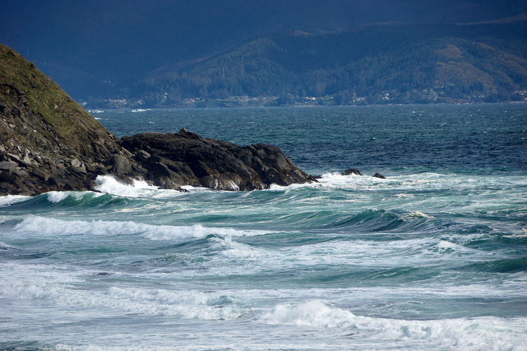 Waves... Aquatic Sport Beach Beauty In Nature Day Land Landscape Marine Motion Mountain Nature No People Outdoors Power In Nature Rock Rocky Coastline Scenics Scenics - Nature Sea Sky Sport Tranquility Travel Destinations Water Waterfront Wave