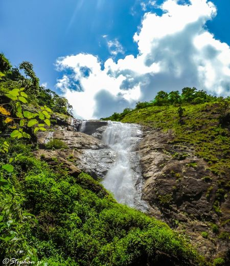 Waterfall Mountains Trees Clouds And Sky Kerala India Landscape Scenery Nikon Travel Photography
