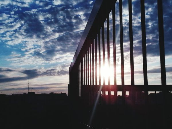 Walking to office Sunrise And Clouds Eyemphotos Sky And Clouds Hi! Check This Out Hello World Eyembarcelona The Blue Sky