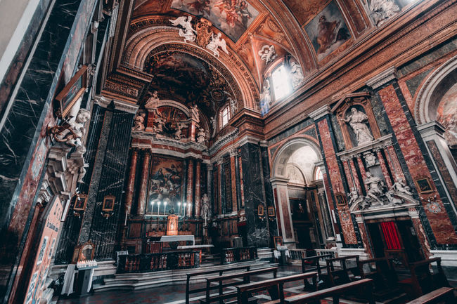 In Rome (2017) Christianity Church Place Of Worship Rome Travel Vatican Altar Architecture Built Structure Day History Holy Indoors  Interior Italy Low Angle View No People Pew Place Of Worship Place To Visit Religion Spirituality Travel Destinations