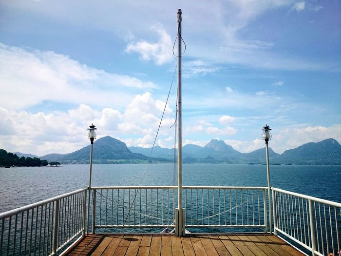 Port Indonesia_photography Nature Photography Mountain Cloud - Sky Beauty In Nature Vacations Backgrounds Decking Wood Railings And Iron Sky Nature No People
