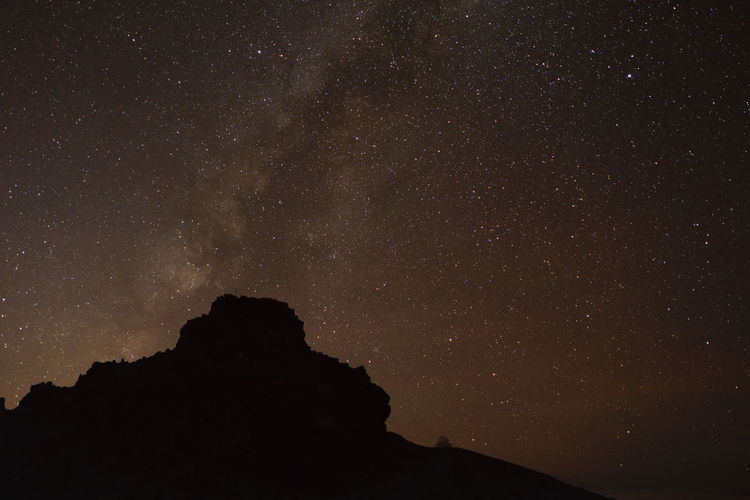 Astrology Sign Astronomy Canary Islands Constellation Galaxy La Palma Low Angle View Milky Way Mountain Nature Night No People Outdoors Roque De Los Muchachos Sky Space Space And Astronomy Spaın The Great Outdoors - 2017 EyeEm Awards Lost In The Landscape