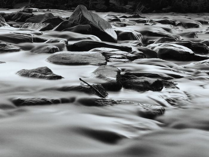 Rock - Object Long Exposure Cloudy Water Rock Formation River Details Of Nature Detail Of River Water No People Sea Nature Outdoors Black And White Dusk EyeEmNewHere Black And White Friday