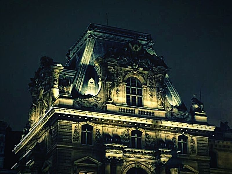 Architecture Low Angle View Built Structure Building Exterior City City History No People Sky Facade Outdoors Night Paris, France  Louvre Louvremuseum Louvre Museum Louvre, France Lights