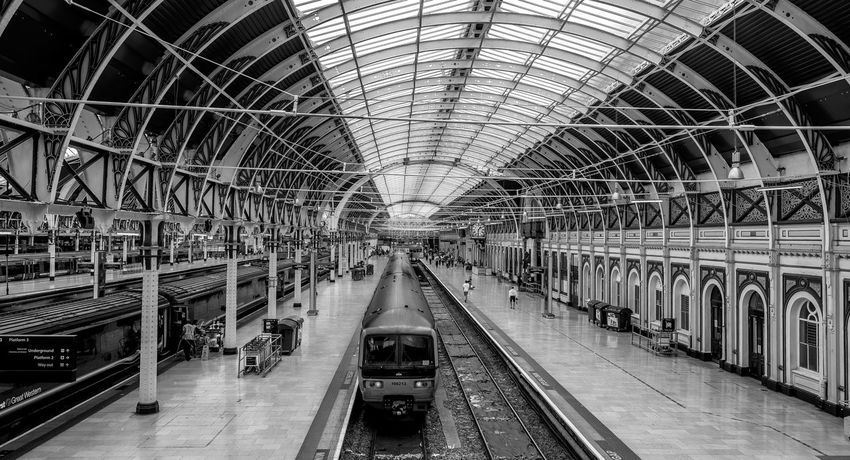 Span one, train shed, Paddington Station, London Railway Train Station Railway Station Architecture Monochrome FUJIFILM X-T10 London Black And White Paddington Great Western Railway
