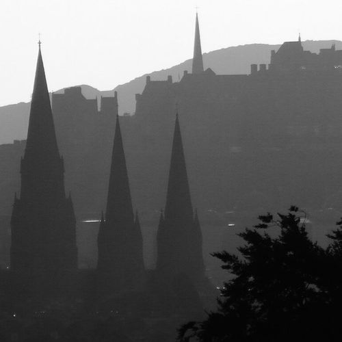 Edinburgh Skyline silhouette Architecture History Silhouette City Built Structure Cityscape Outdoors Building Exterior Edinburgh Scotland