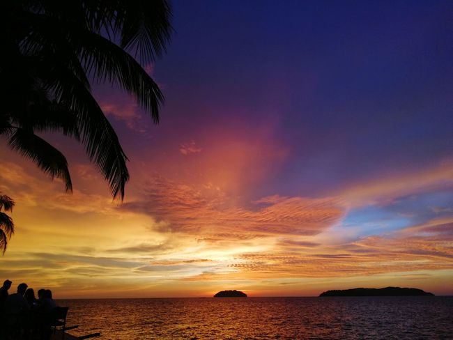 Enjoying the sunset in Sabah Sunset Beach Tourism Landscape Summer Beauty Sea Night Vacations Outdoors Water No People Cloud - Sky Horizon Over Water Silhouette Nature Sky Tranquility Sand Travel Destinations Cuticutimalaysia OnlyInSabah Kotakinabalu Tanjungaru Lost In The Landscape Perspectives On Nature