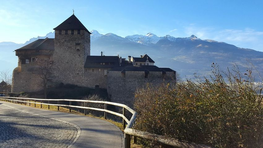 Mountain History Landscape No People Castle Alpes Liechtenstein Nature Winter Wintertime