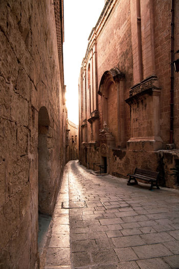 Malta Alley Ancient Ancient Civilization Arch Architectural Column Architecture Belief Building Building Exterior Built Structure City Day Direction History Maltaphotography Mdina No People Old Outdoors Place Of Worship Religion Spirituality The Past Travel Destinations