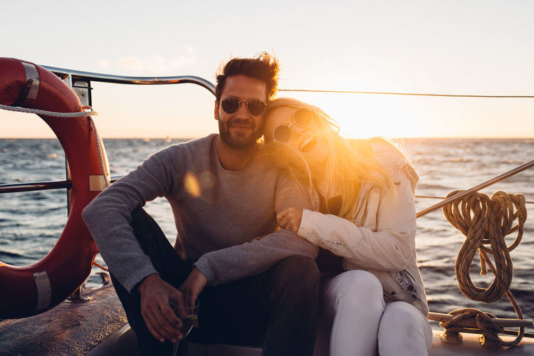 Cape Town Enjoying The Sun Freedom Friends Happiness Laughing Memories Summertime Traveling Youth Boat Boat Cruise Enjoying Life Goldenhour Good Mood Horizon Over Water Ocean Portrait Sailing Boat Sailor Summer Sunset Sunset Cruise  Travel Destinations Windy