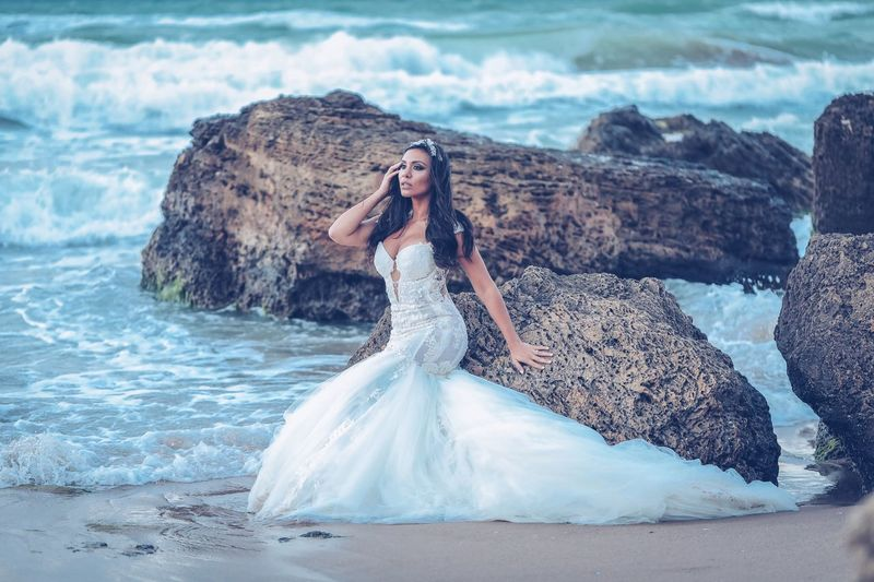 Water Women Beauty Young Adult Young Women Sea One Person Outdoors Hairstyle Fashion Beauty In Nature Real People Adult Lifestyles Dress Beautiful Woman Clothing Nature Elégance Females