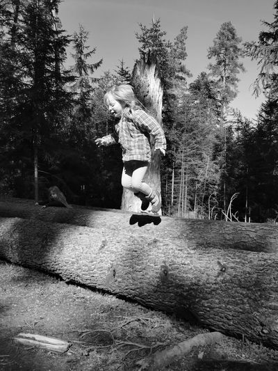 Man jumping in park