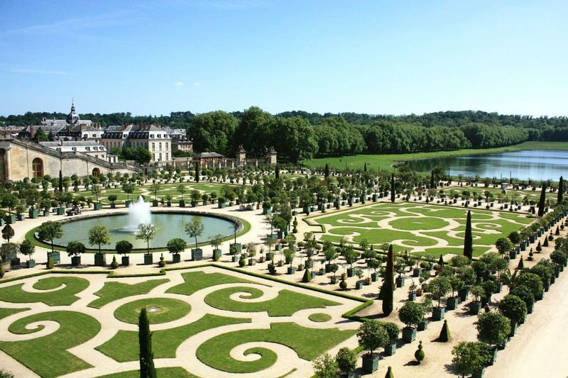 Garden Of Versailles Against Sky