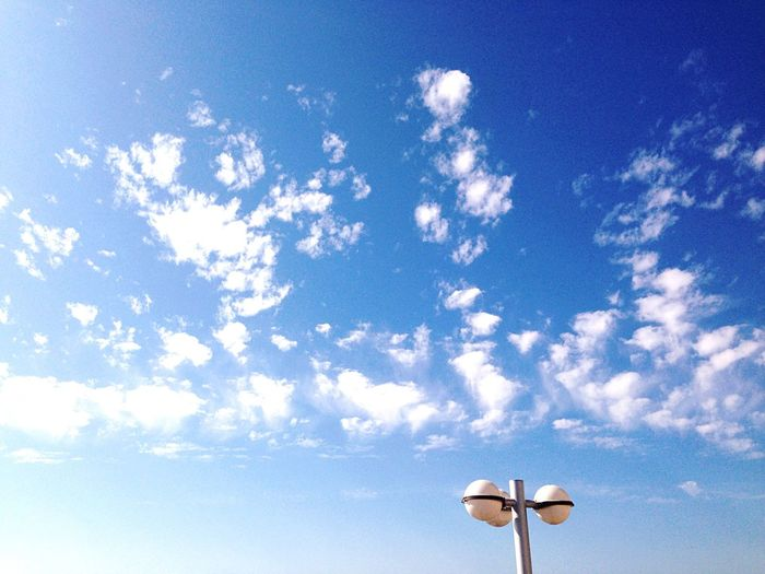 Simplicity Sky And Clouds Lampost Lampposts Balls Sky Collection Minimal Minimalist Minimallandscape Blue