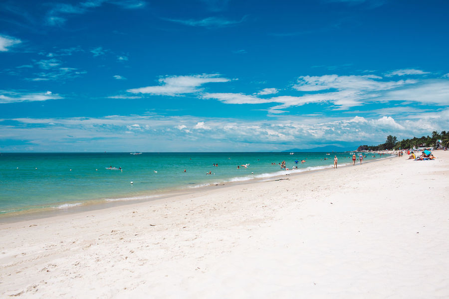 Beach Sea Water Land Sand Sky Cloud - Sky Horizon Over Water Incidental People Horizon Scenics - Nature Beauty In Nature Tranquil Scene Day Nature Tranquility Vacations Trip Holiday Outdoors Turquoise Colored