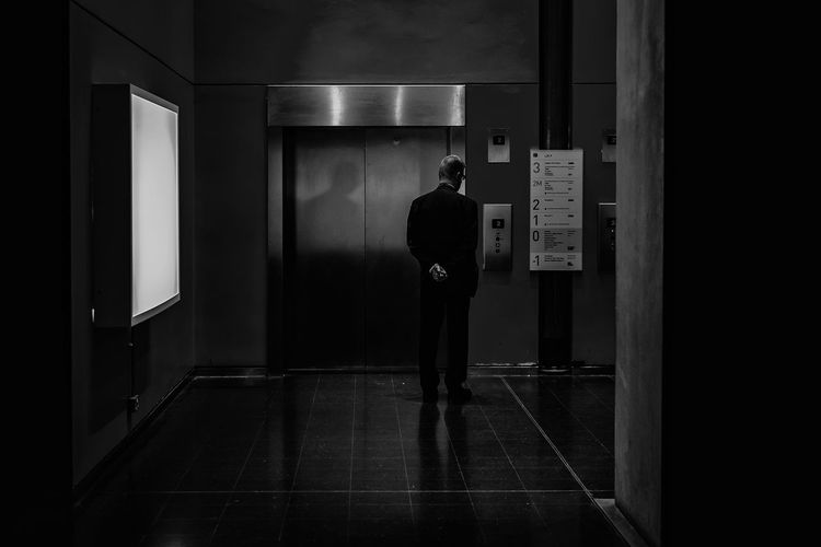 man waiting for the elevator Adult Day Indoors  Lifestyles Men Occupation One Person People Real People Standing The Photojournalist - 2017 EyeEm Awards The Street Photographer - 2017 EyeEm Awards