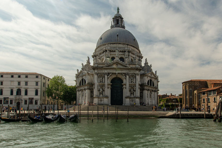 Basilica Santa Maria della Salute in Venice Church Votivkirche Architecture Built Structure Canal Cloud - Sky Day Dome Outdoors Sky Tourism Travel Travel Destinations Venice Water Waterfront