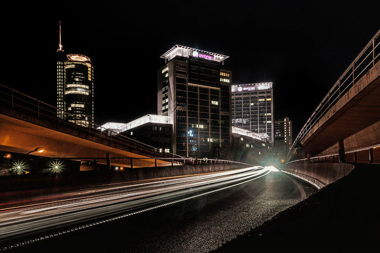 Architecture Essen City Evonik Highway Night No People Rwe Tower Urban NRW Germany helbingbrücke Abfahrt A40 Fine Art Battle Of The Cities Miles Away The Architect - 2018 EyeEm Awards