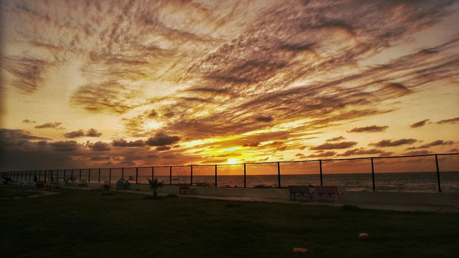 Sunset Beauty In Nature Sky Sun My Work First Eyeem Photo Hello World Relaxing Sea Water Nature