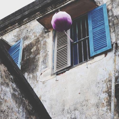 Memories from Hoi An Vietnam Vietnamphotography Hoi An Lantern Window Architecture Building Exterior Built Structure Urban Scene Purple