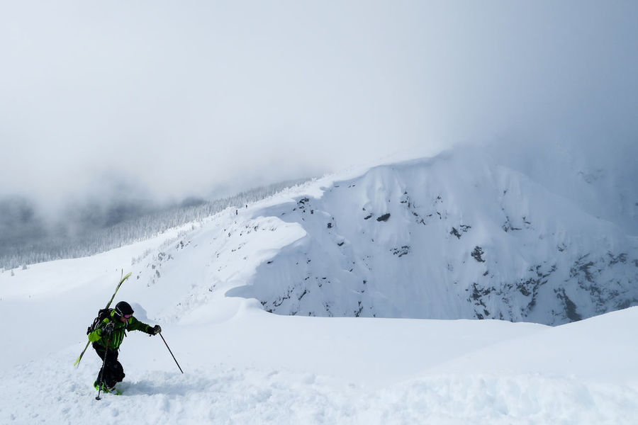 Adventure Backcountry Skiing Climbing Cold Temperature Deep Snow Extreme Sports Landscape Mount Mackenzie Mountain Nature Off Piste Offpiste One Man Only Outdoors Scenics Ski Skill  Snow To The Top Vacations White Color Winter Be. Ready.