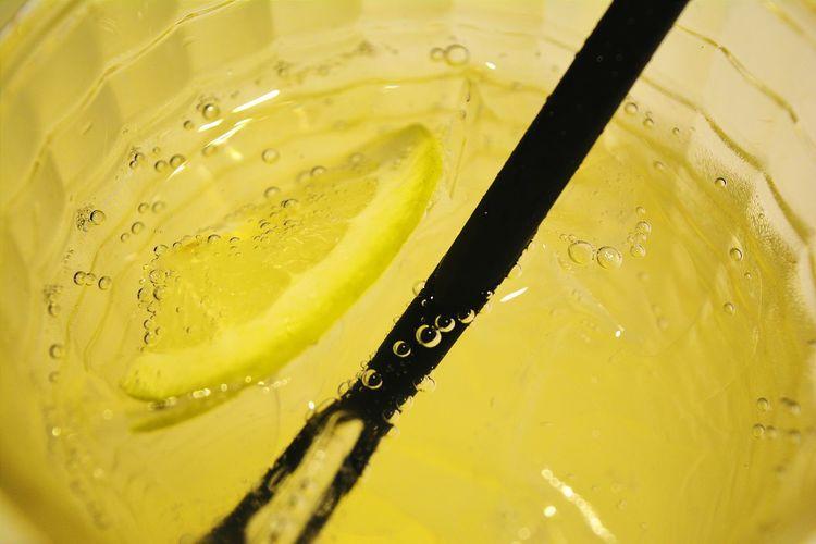 Full frame of fresh lemonade