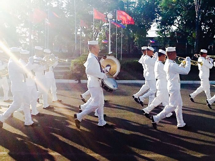 Collected Community Creative Light And Shadow Taking Photos Platoon Marchingband Navy Life Marching