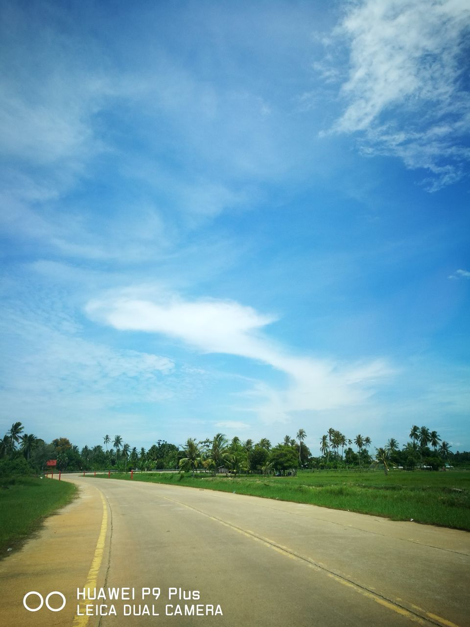sky, cloud - sky, landscape, the way forward, road, scenics, tranquility, day, field, nature, no people, outdoors, tree, beauty in nature, rural scene
