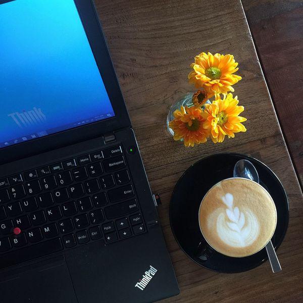 Coffee Cappuccino ThinkPad Flower First Eyeem Photo EyeEmNewHere