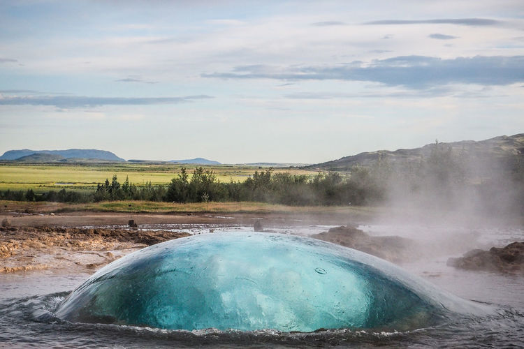 - Kamehameha - Action Shot  Beauty In Nature Blue Day Flowing Water Gaz Geyser Geysir Landscape Motion Outdoors Power In Nature Scenics Travel Destinations Water Water_collection