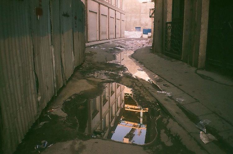 The Way Forward Reflection On Water Public Places Public Spaces No People Getting Inspired Narrow Alley 35mm Film Tehran, Iran 🎩