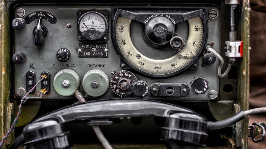Close-up of old dashboard